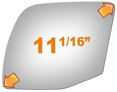 Wagon Driver Mirror Glass (1996-2002 FORD E SUPER DUTY, 1992-2007 E-150, E-250, E-350, E-450 Driver Side Power Replacement Mirror Glass)