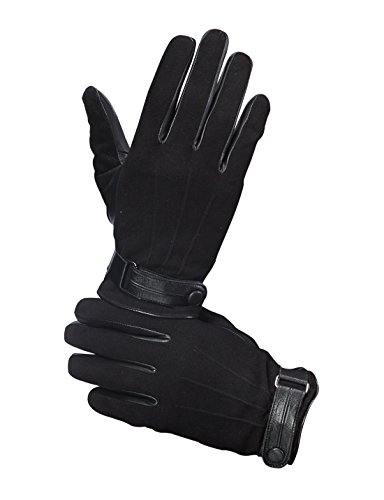 Men's Lambskin Leather Winter Gloves, Italian Nappa, (Fitted Lambskin Leather Case)
