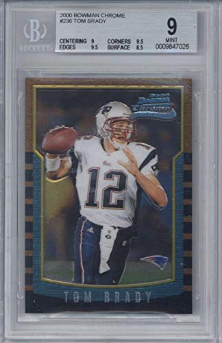 Tom Brady 2000 Bowman Chrome #236 RC Card Beckett BGS 9