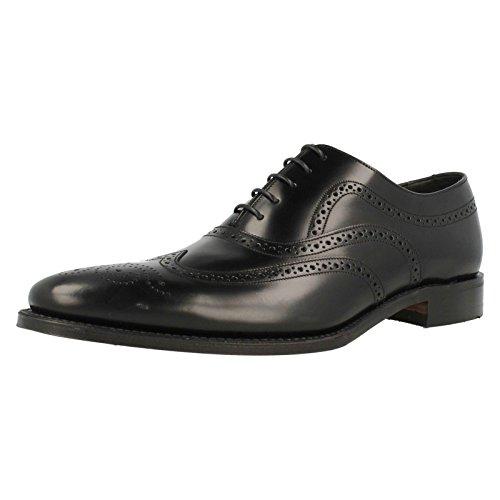 mens-loake-polished-leather-lace-up-shoes-jones-black-size-95f