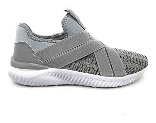 Blue Berry EASY21 Herren Atmungsaktive Mode Turnschuhe Casual Slip-On Loafers Laufschuhe Grau35