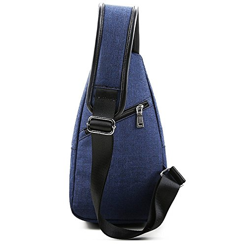 Sling Bag Chest Shoulder Backpack Crossbody Bags for Men Women Travel Outdoors (Large blue) by TUOWAN (Image #1)