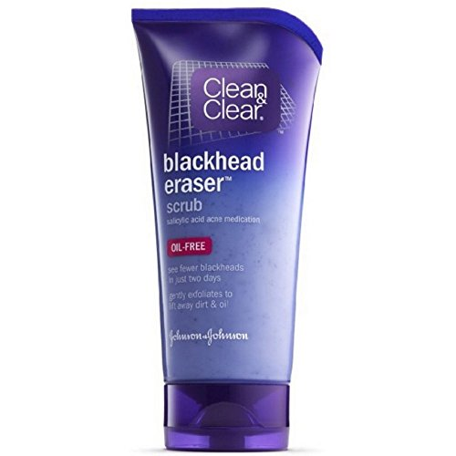Clean & Clear Blackhead Eraser Facial Scrub with 2% Salicylic Acid Acne Medication, Oil-Free Daily Facial Scrub for Acne-Prone Skin Care, 5 oz (Pack of 6)