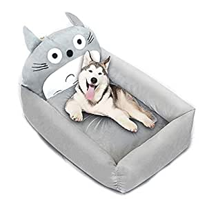 Admirable Amazon Com Utopiay Washable Totoro Shape Pet Bed Gray Cat Inzonedesignstudio Interior Chair Design Inzonedesignstudiocom