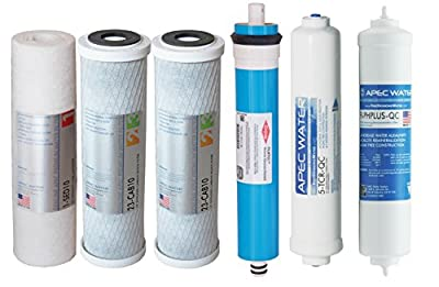 APEC 90 GPD Complete Replacement Filter Set for ULTIMATE Series Alkaline Reverse Osmosis Water Systems (FILTER-MAX-PH)