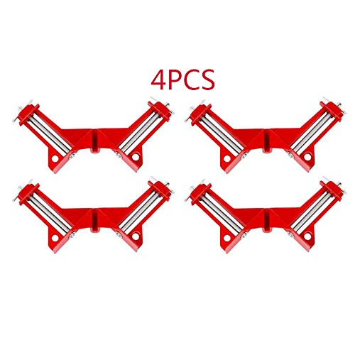 - 4Pcs Right Angle Clamp 4Inch 90 Degrees Clip Picture Frame Clamp Mitre Structure Picture Holder Multifunction Woodworking Tool