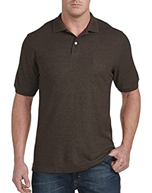 by DXL Big and Tall Pocket Pique Polo
