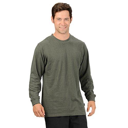 (Effort's Men's Hemp Long Sleeve T-shirt Large Charcoal)