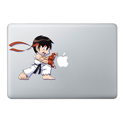 Ryu Street Fighter Cartoon Macbook Stickers Decal For Laptop Computer Wall Removable 3D Vinyl Pro Skin 13 inch