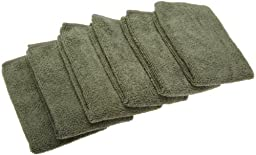 EXCELLO and Design Imports CAMZ76303 Olive Microfiber Terry Cleaning Cloth, (Pack of 6)