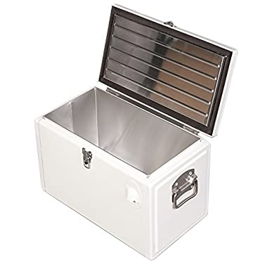 HIO 20 Qt. Retro-Style Steel Cooler Box with Bottle Opener, White