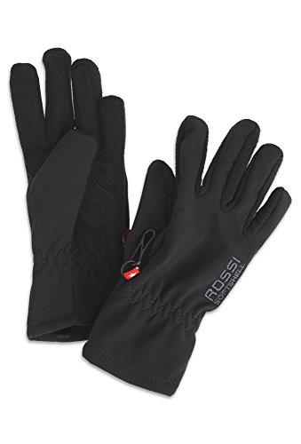 Rossi, Mädchen Softshell-Handschuh, Unisex - Kinder, Größe 4, schwarz