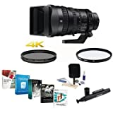 Sony 28-135mm F4 Full-frame PZ E-Mount Lens - Bundled w/UV Filter, CPL Filter, Clean Kit, Lens Cleaner, Pro Software Package