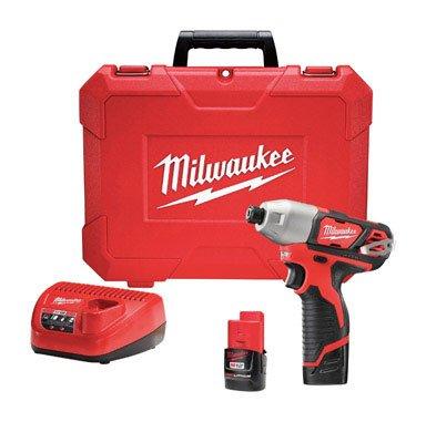 Milwaukee Electric Tool 2462-22 Milwaukee M12 Cordless Impact Driver Kit, 12 V ()