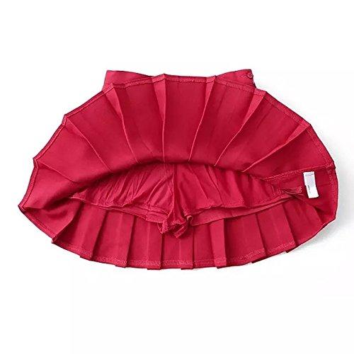 Navy tennis sottile pressione gonne vestito pieghe plissettato gonna Wschool a M uniforme cannoncino Red Hippolo mini CB0nqOwxzC