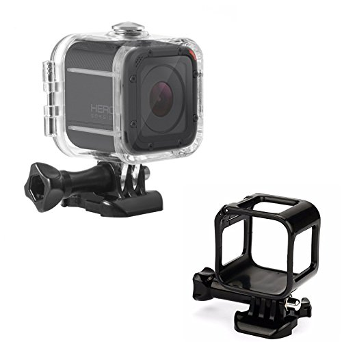 Makit Underwater 49M Waterproof Diving Housing Case With Standard Frame Protective Case for Gopro Hero 5/4 Session