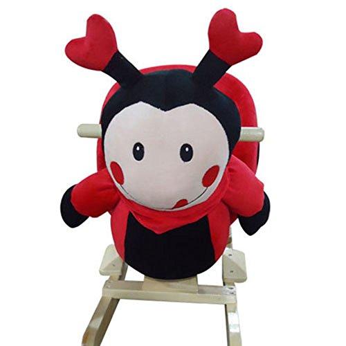 Schaukelpferd Schaukel Plüsch Schaukeltier Stuhl Sound Baby Kinder (Ladybug 215130)