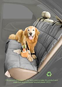 Duragear Dog Car Seat Cover * Quilted *Reversible Slate/Sand