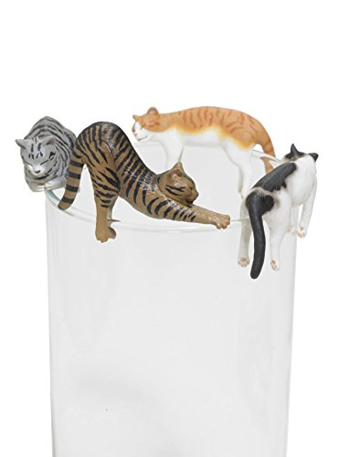 (Kitan Club Putitto Sleeping Cat Version 2 Cup Toy - Blind Box Includes 1 of 8 Collectable Figurines - Hangs on Thin, Flat Edges - Authentic Japanese Design)