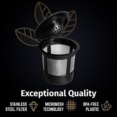 c57290adcfb 6 Reusable Single Cup Keurig Solo Filter Pod Coffee Stainless Mesh  iPartsPlusMore