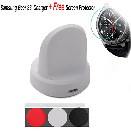 Samsung Gear S3Cargador inalámbrico, budesi Wireless Cable de carga y sincronización con USB para Samsung Gear...
