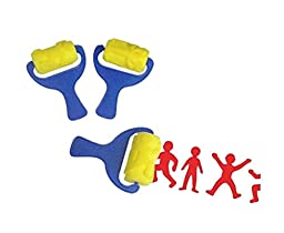 Creative Kids Toy Art Action Figures Pattern Wheel Stamper