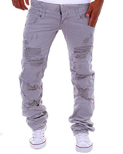 ARTFFEL Mens Color Block Casual Drawstring Sports Jogger Pants Sweatpants Trousers