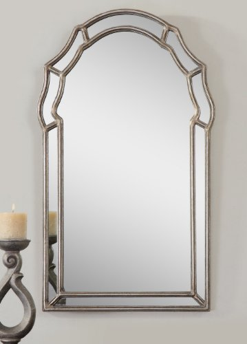 Glam Silver SHAPED ARCH Wall Mirror Curved Venetian Style