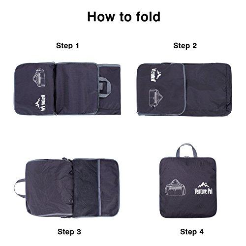 Venture Pal Packable Sports Gym Bag Wet Pocket   Shoes - Import It All ff25423cb3c68