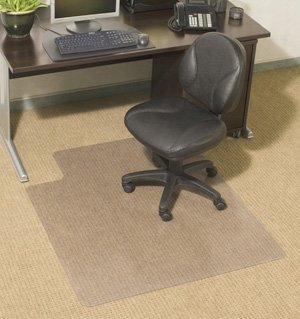 Chair Mats 48'' x 96'' without Lip for Carpeted Floors - Standard Thickness 1/7'' by American Floor Mats