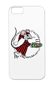 Mouse Christmas Holidays Occasions The Night Before.. Shatterproof Silver For Iphone 5c Protective Hard Case