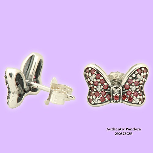 290578CZR Pandora Disney Earrings - Minnie's Sparkling Bow (Pandora Ring Bow)