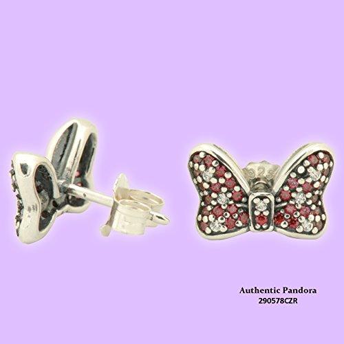 290578CZR Pandora Disney Earrings - Minnie's Sparkling Bow (Pandora Ring Bow)