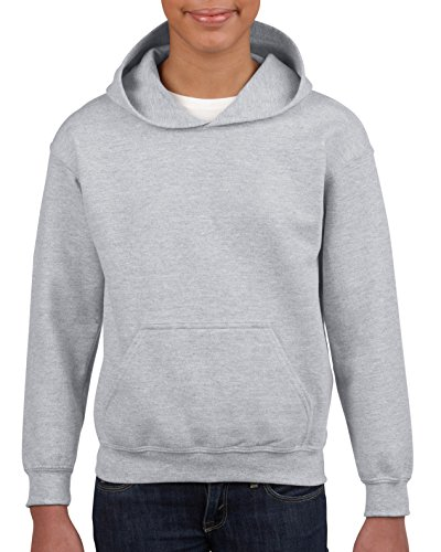 Gildan Lightweight Sweatshirt - Gildan Kids' Little Hooded Youth Sweatshirt, Sport Grey, Medium