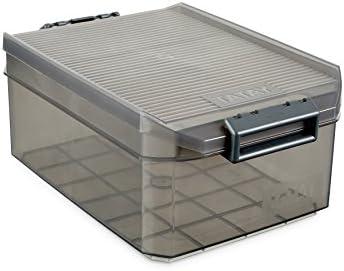 Tatay 1150214 Caja de almacenamiento multiusos con tapa 4.5l de capacidad plástico polipropileno libre de bpa, Marrón, 19,2 x 29,7 x 12,4 cm: Amazon.es: Hogar