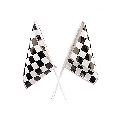 Adorox 72Pcs Black and White Checkered speed Race Flags Stock Car Racing Theme Party Favor Decoration (6 Dozen) for $<!--$7.99-->