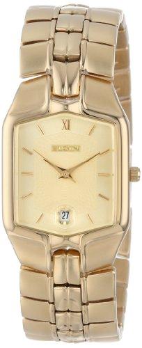 Elgin Gold Watch - Elgin Men's FLS316 Gold-Tone Solid Link Bracelet Watch