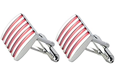 APEX 5-Strip Red Enamel Cufflinks