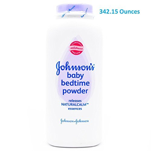 (342.15oz TOTAL Sent in Multi-Bottles) Johnson's Baby Powder BED TIME Scent. Dermatologist Tested to be hypoallergenic. Clinically proven to soothe the skin, and absorb moisture.(342.15oz Total) by Johnson's