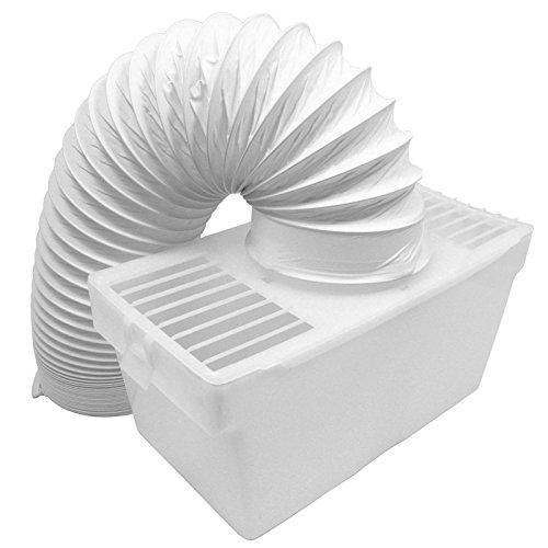 "Spares2go Condenser Vent Box & Hose Kit For Servis Tumble Dryers (4"" / 100Mm)"