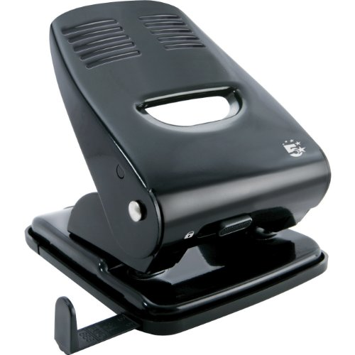 - 5 Star Punch 2-Hole Metal with Plastic Base Capacity 40x 80gsm Black