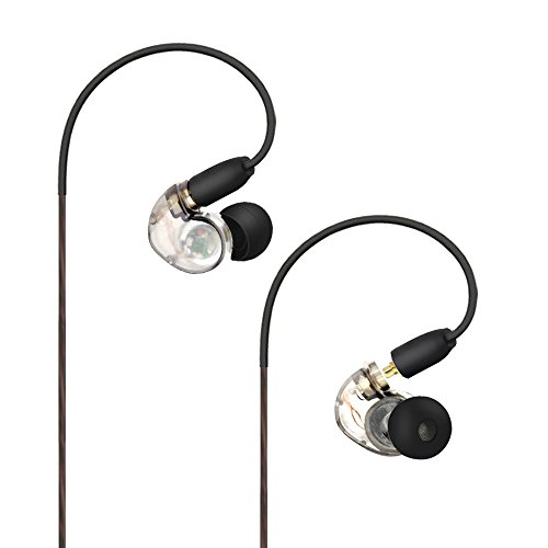 Daioolor EP187 White Musician Earbuds in Ear Monitor Headphones for Singer, Musician, Samsung S6 S7 S8 Galaxy Note, iPhone 5 6 Plus (Musicians In Ear Monitors)