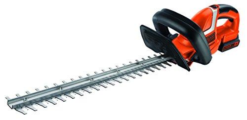 Black + Decker 18V Lithium Akku-Hecken-und Strauchschere, 45 cm Messer, 18 mm Schnittstärke, Akku, Ladegerät, GTC1845L20