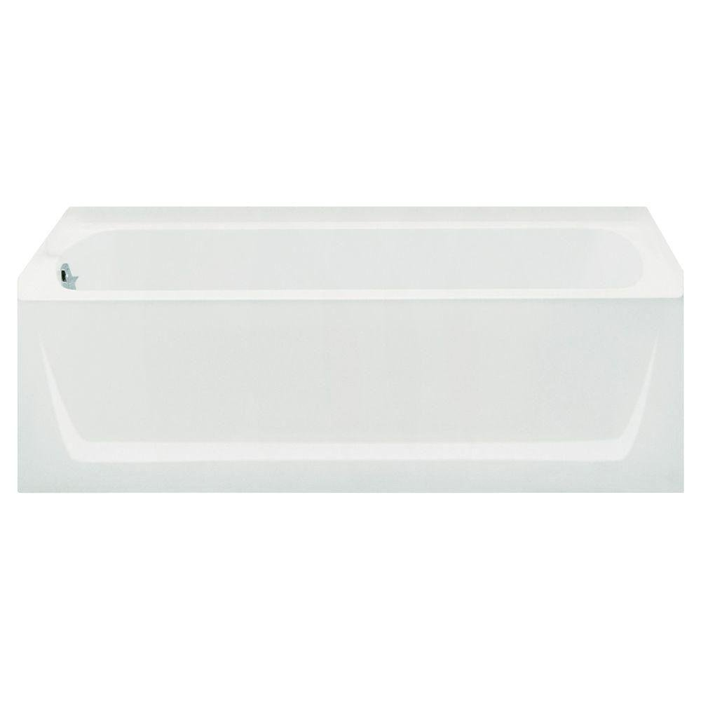 Sterling Plumbing 71121110-0 Ensemble Bathtub, 60-Inch x 32-Inch x 18-Inch, Left-Hand, White