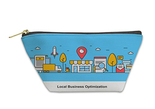 Gear New Accessory Zipper Pouch, Concept Of Local Business Optimization Optimizing Local Listing For Marketing, Small, 5811292GN by Gear New