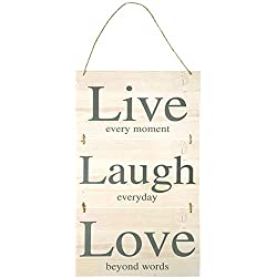 Anker Live Laugh Love Wooden Plaque Hanging Wall Sign