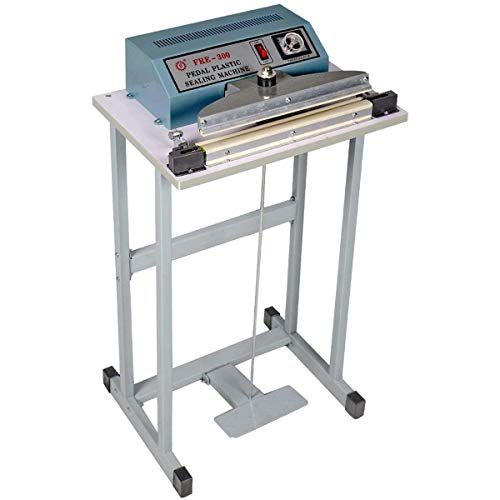 OKSLO 12 foot pedal impulse sealer, 110v feet operated heat sealing machine for closin