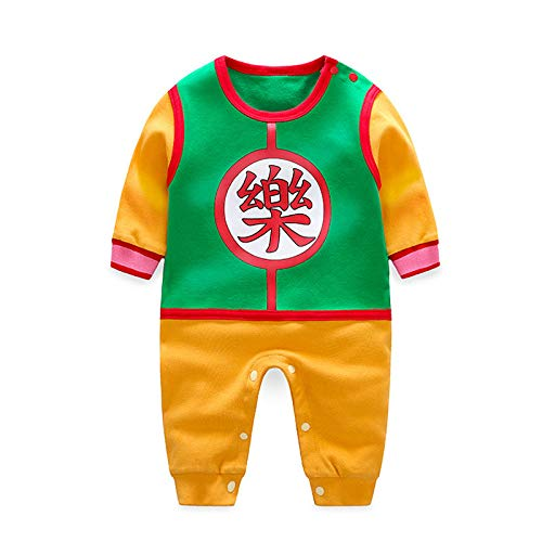 Newborn Jumpsuit Romper Dragon Ball Z Cosplay Bodysuit Costume (Green, -