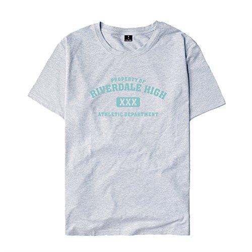 T Besthoo Girocollo Riverdale Amante Casual Corta Grey3 Bluse Side shirt Maglietta Stampa Manica Serpents Unisex Tops Estive South PYRrxwPq
