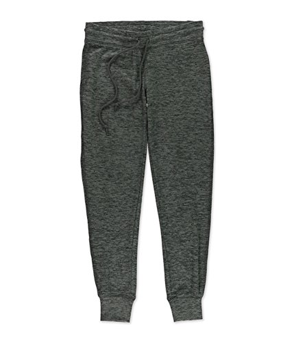 Aeropostale Womens Jogger Pajama Sweatpants, Grey, Small